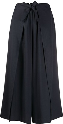 Issey Miyake Belted Wide Leg Trousers