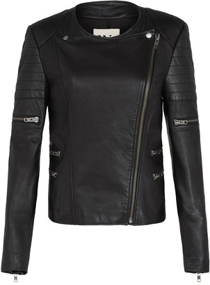 West 14th Greenwich Street Motor Jacket Black Leather