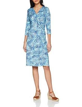 Joe Browns Womens Leaf Wrap Jersey Dress with Side Knot Blue
