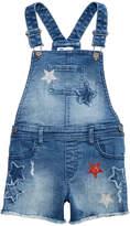 Epic Threads Toddler Girls Star Denim Short Overalls, Created for Macy's