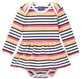 Toobydoo Suunto Striped Ballerina Bodysuit (Baby Girls)
