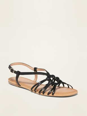 Old Navy Faux-Leather Strappy Sandals for Women