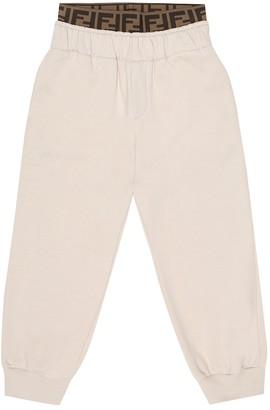 Fendi Kids Cotton-jersey trackpants