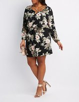 Charlotte Russe Plus Size Floral Strappy Dress