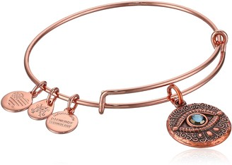 Alex and Ani Women's Evil Eye Rose Gold Charm Bangle Bracelet Expandable