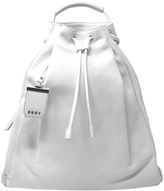 DKNY White Soft Leather Backpack