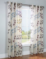 Home Outfitters Passion Printed Linen-Look Curtain Panel