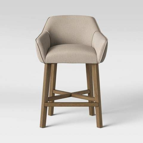 Brilliant Colrain X Wood Base Counter Stool Beige Onthecornerstone Fun Painted Chair Ideas Images Onthecornerstoneorg