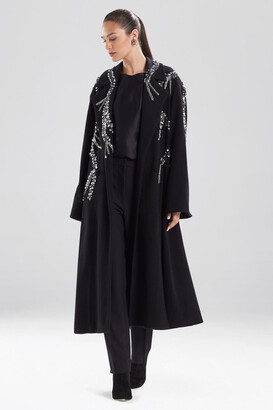 Natori Felted Wool Beaded Coat