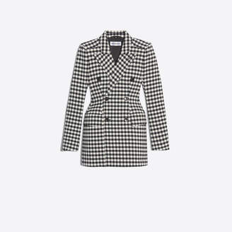Balenciaga Gingham wool mix Hourglass double breasted jacket