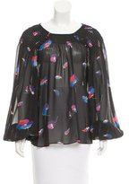 Jill Stuart Floral Semi-Sheer Top w/ Tags