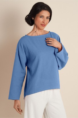 Soft Surroundings Women Gauze Pullover III