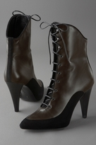 Lace-Up Bootie on Stacked Heel