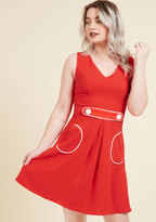 Obsessed With Retro A-Line Dress in S