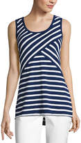 Liz Claiborne Criss-Cross Stripe Knit Tank Top