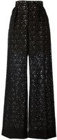 Stella McCartney flared lace trousers - women - Cotton/Polyamide/Silk - 40