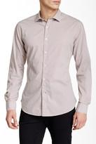 Ganesh Circle Print Long Sleeve Slim Fit Shirt