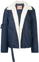 Maggie Marilyn Made For Greatness shearling-lined denim jacket