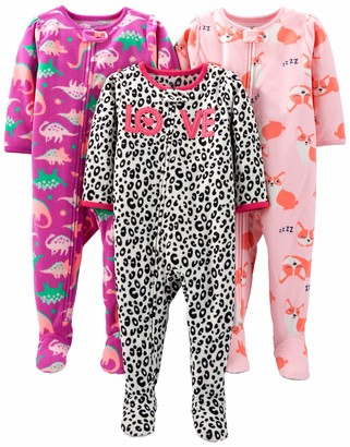 Simple Joys by Carter's 3-pack Loose Fit Flame Resistant Fleece Footed Pajamas Sleepers