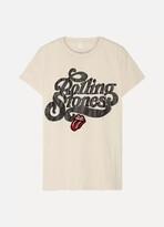 MadeWorn Rolling Stones Appliquéd Printed Cotton-jersey T-shirt