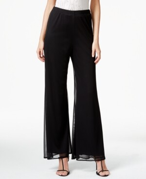 MSK Mesh Wide-Leg Dress Pants, Regular & Petite Sizes