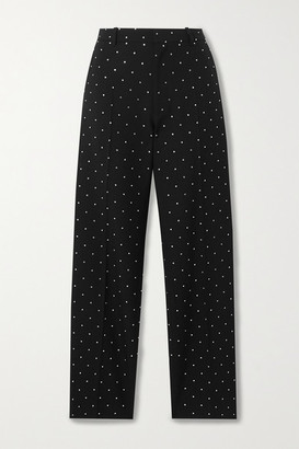 Balenciaga Sequin-embellished Wool-twill Straight-leg Pants - Black