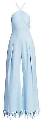 Cult Gaia Women's Yasmina Tassel Linen Wide-Leg Jumpsuit