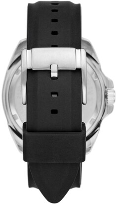 Fossil Men's Autocross Multifunction Black Silicone Watch, 44mm