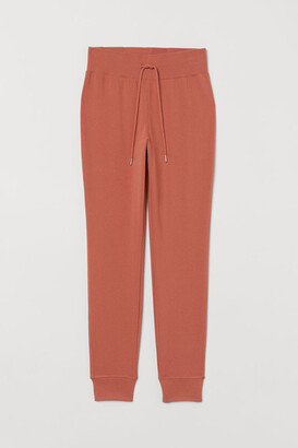 H&M Cotton-blend Joggers - Orange