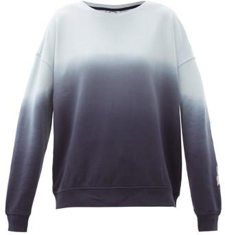 The Upside Alena Ombre Cotton-jersey Sweatshirt - Blue