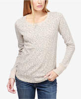 Lucky Brand Cotton Animal-Print Sweatshirt