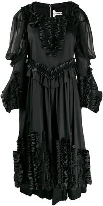 Comme des Garcons Applique Ruffles Dress
