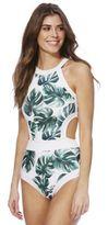 South Beach Southbeach Leaf Print Swimsuit, Women's