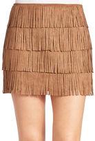 California Moonrise Layered Fringe Mini Skirt
