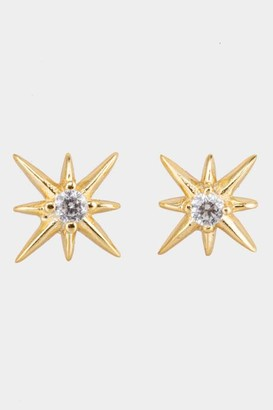 francesca's Carolina Starburst Statement Studs - Gold