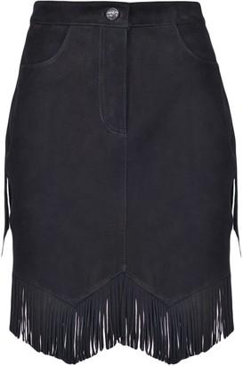 Pinko High-Waisted Fringed Skirt