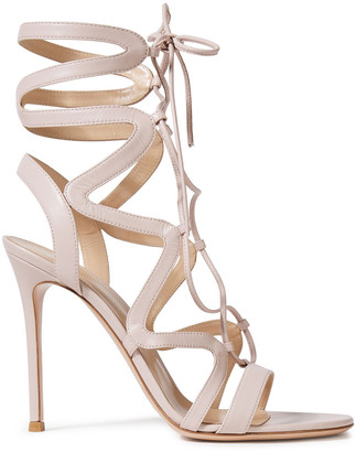 Gianvito Rossi Artemis 105 Lace-up Leather Sandals