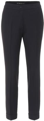 Etro Wool-blend crepe pants