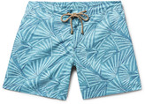 Thorsun - Titan Slim-fit Mid-length Printed Swim Shorts