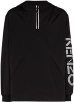 Kenzo logo print hooded windbreaker
