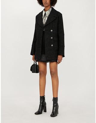 Pinko Scendere notch-lapel boucle coat