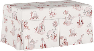 Gray Malin X Cloth & Company Toile Storage Bench - Pink