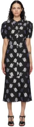 Erdem Black Antonetta Dress