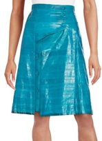 Proenza Schouler Asymmetrical Button Eel Skin Skirt