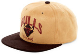 Mitchell & Ness Bulls Faux Suede Snapback