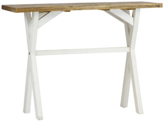 Lux Home Highland Distressed White Solid Reclaimed Wood Console Table