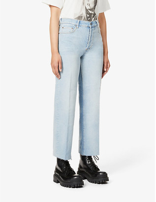 Boyish The Mikey wide-leg high-rise organic cotton-blend denim jeans
