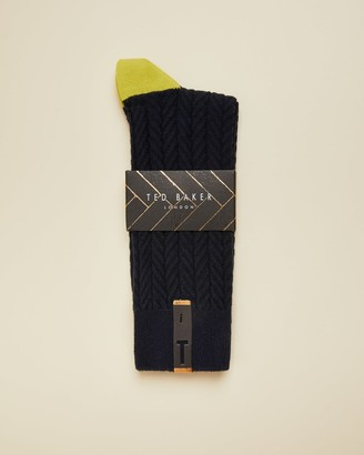Ted Baker Semi Plain Cotton Socks