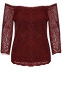 City Chic Regal Lace Top
