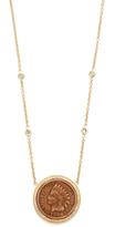 Jacquie Aiche 14k Gold Antique Coin Necklace